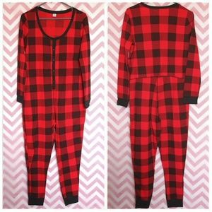 Old Navy Red Buffalo Check Onesie Size L